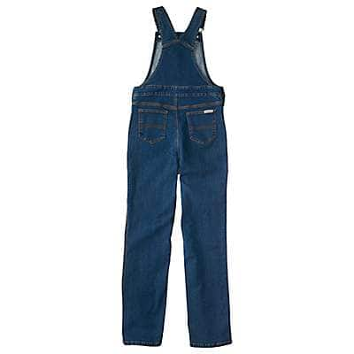 Carhartt Girls' Medium Wash Denim Overall Unlined - back