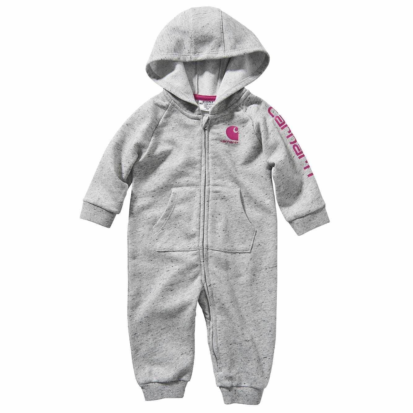 Picture of Hooded French Terry Coverall in Ash Heather