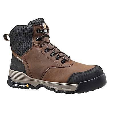 Carhartt Men's Brown Carhartt Force® 6-Inch Composite Toe Work Boot - front