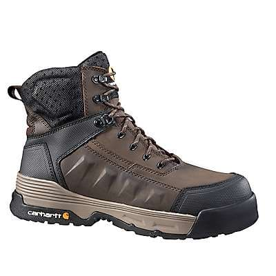 Carhartt Men's Dark Brown Carhartt Force® 6-Inch Composite Toe Work Boot - front