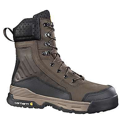 Carhartt Men's Dark Brown Carhartt Force® , 8 Inch, Brown, Work Boot - front