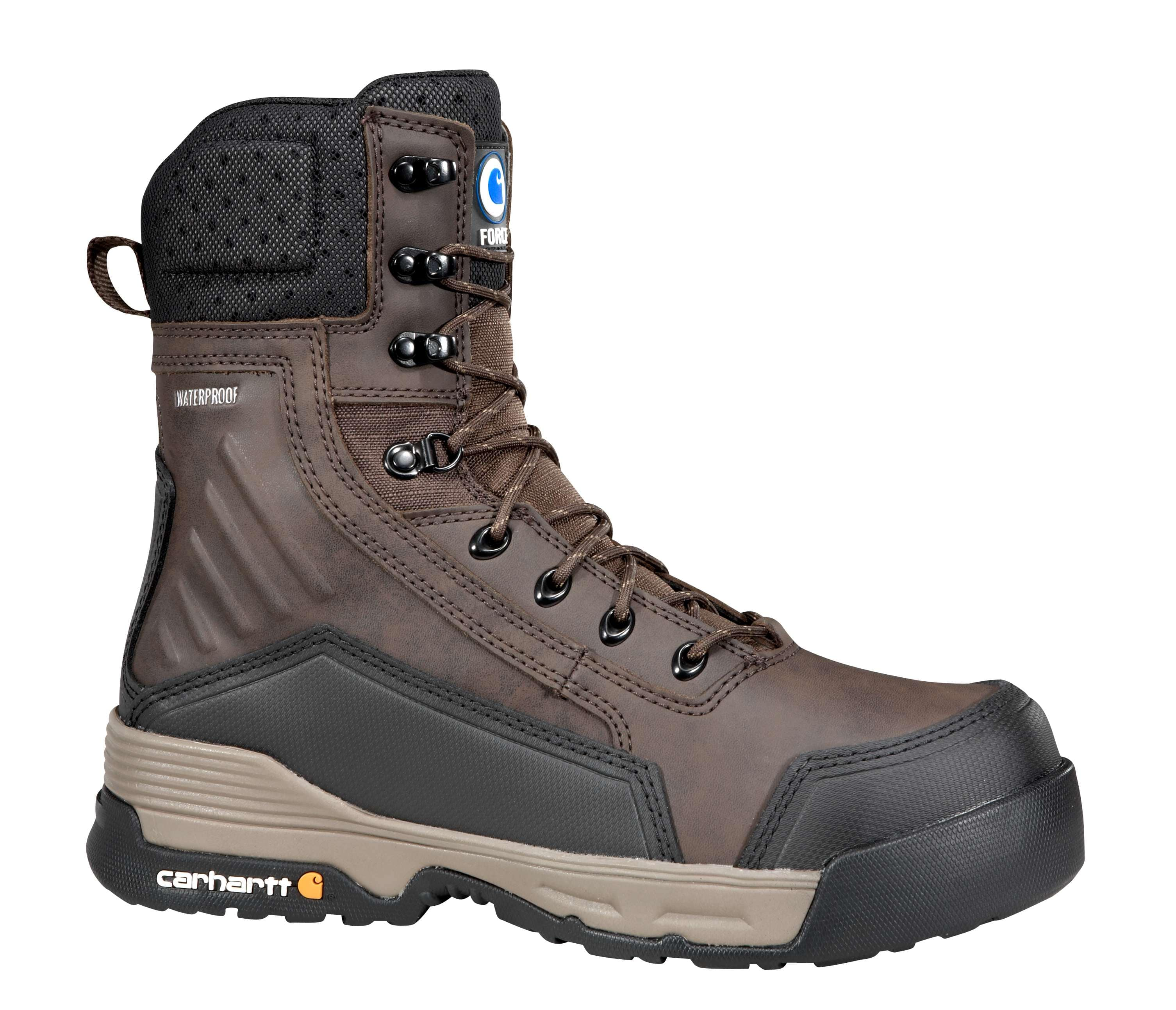 413a2a6325ee Men s Carhartt Force® 8 Inch Dark Brown Work Boot with Zipper