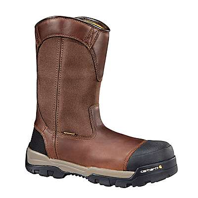 Carhartt Men's Brown Oil Tanned Ground Force 10-Inch Composite Toe Wellington Boot - front