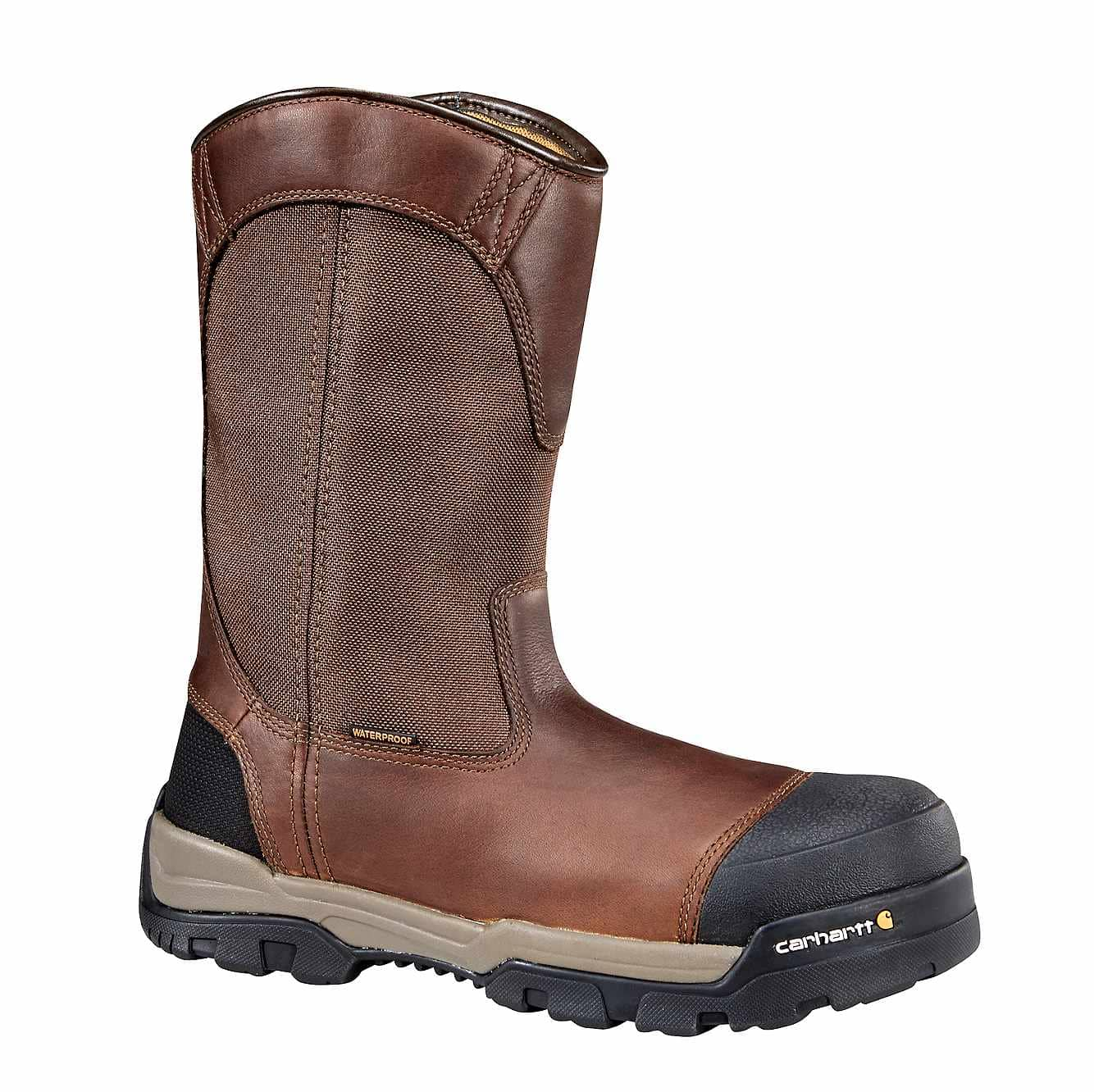 Picture of Ground Force 10-Inch Composite Toe Wellington Boot in Brown Oil Tanned