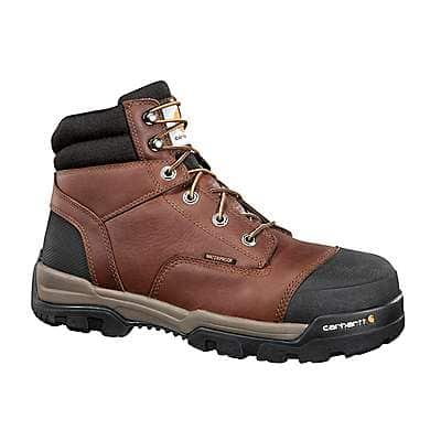 Carhartt  Brown Oil Tanned Ground Force 6-Inch Composite Toe Work Boot - front
