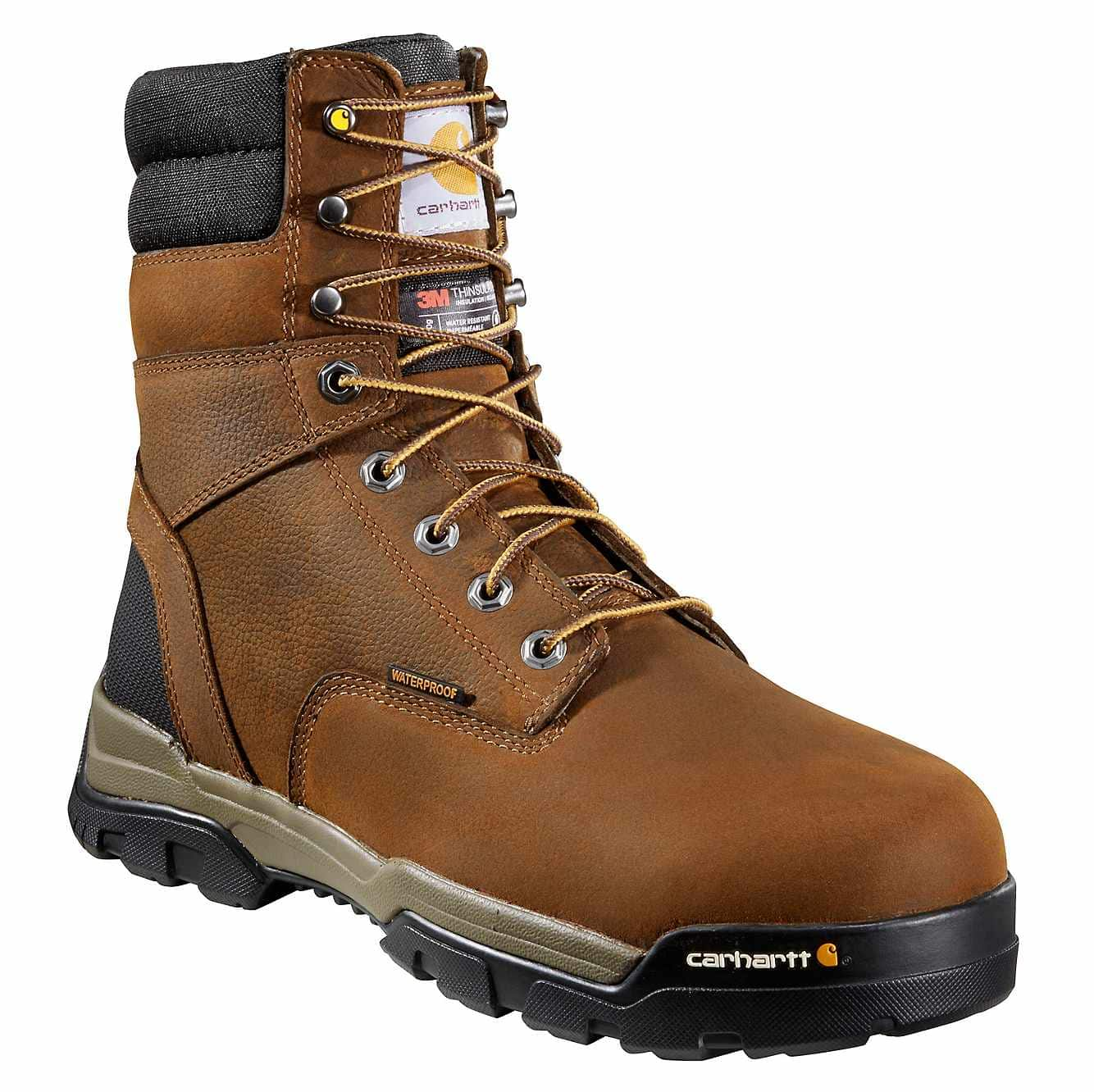 Picture of Ground Force 8-Inch Composite Toe Work Boot in Brown Oil Tanned