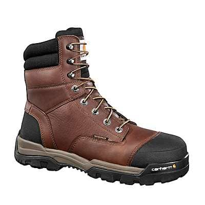 Carhartt Men's Brown Oil Tanned Ground Force 8-Inch Composite Toe Work Boot - front