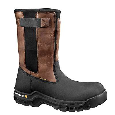 Carhartt Men's Black Oil Tanned Rugged Flex® 10-Inch Composite Toe Wellington Boot - front