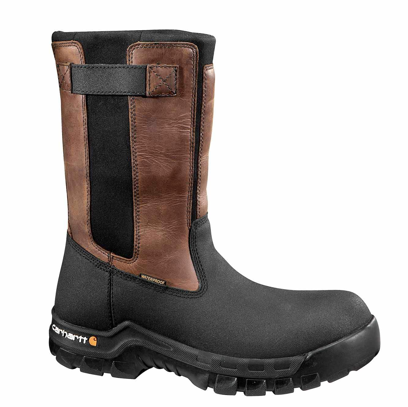 Picture of Rugged Flex® 10-Inch Composite Toe Wellington Boot in Black Oil Tanned
