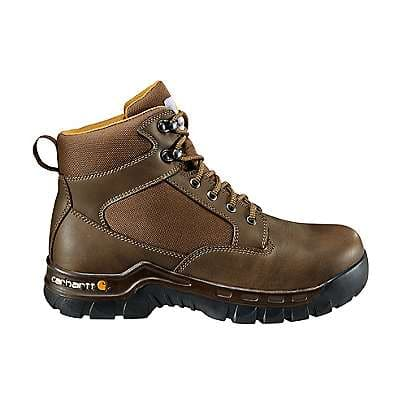 Carhartt Men's Brown Rugged Flex 6-Inch Steel Toe Work Boot