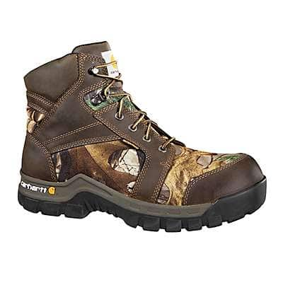 Carhartt Men's Brown Oil Tanned 6-Inch Waterproof Rugged Flex® Composite Toe Boot - front