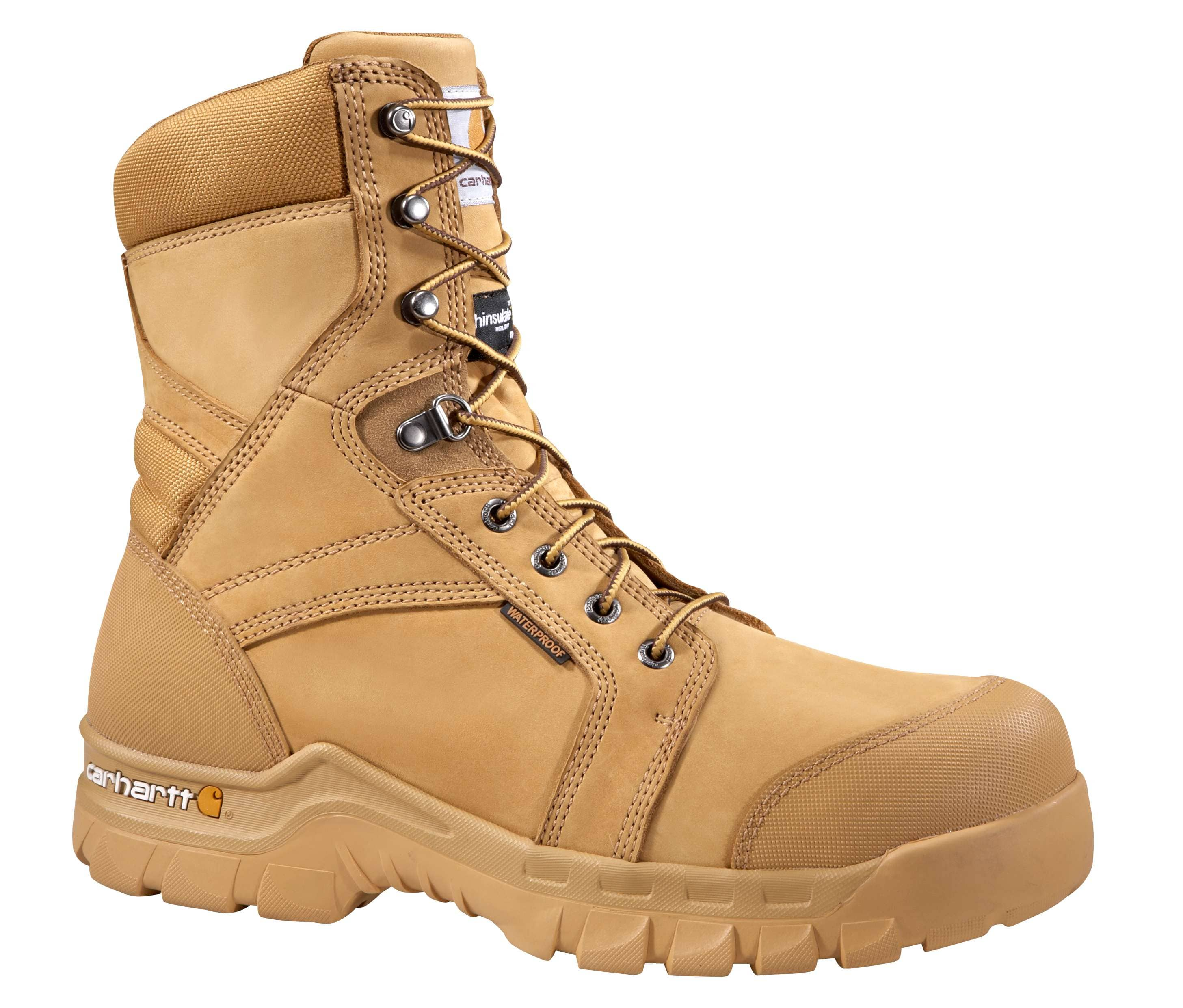 Men S Rugged Flex 8 Inch Insulated Non Safety Toe Work Boot Carhartt