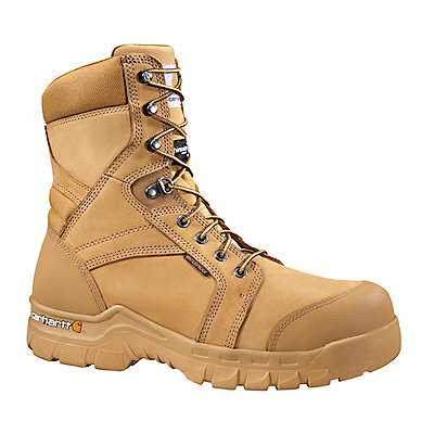 Carhartt Men's Wheat Nubuck Rugged Flex® 8-Inch Insulated Non-Safety Toe Work Boot - front