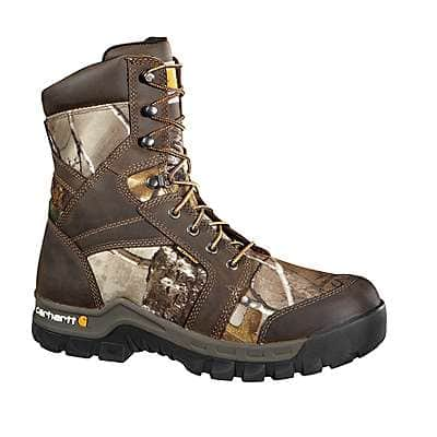 Carhartt Men's Brown Oil Tanned 8-inch Waterproof Insulated Rugged Flex® Composite Toe Boot - front