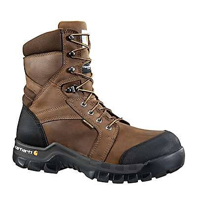 Carhartt Men's DK BROWN OIL TANNED Rugged Flex® 8-Inch Insulated Composite Toe Work Boot