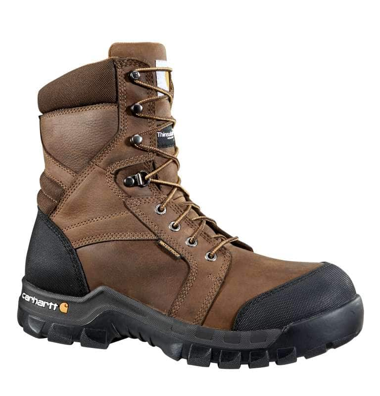 Carhartt  DK BROWN OIL TANNED Rugged Flex® 8-Inch Insulated Composite Toe Work Boot