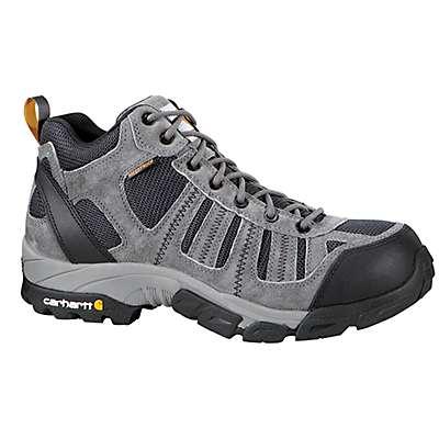 Carhartt Men's Grey Suede/Navy Nylon Lightweight Non-Safety Toe Work Hiker Boot - front