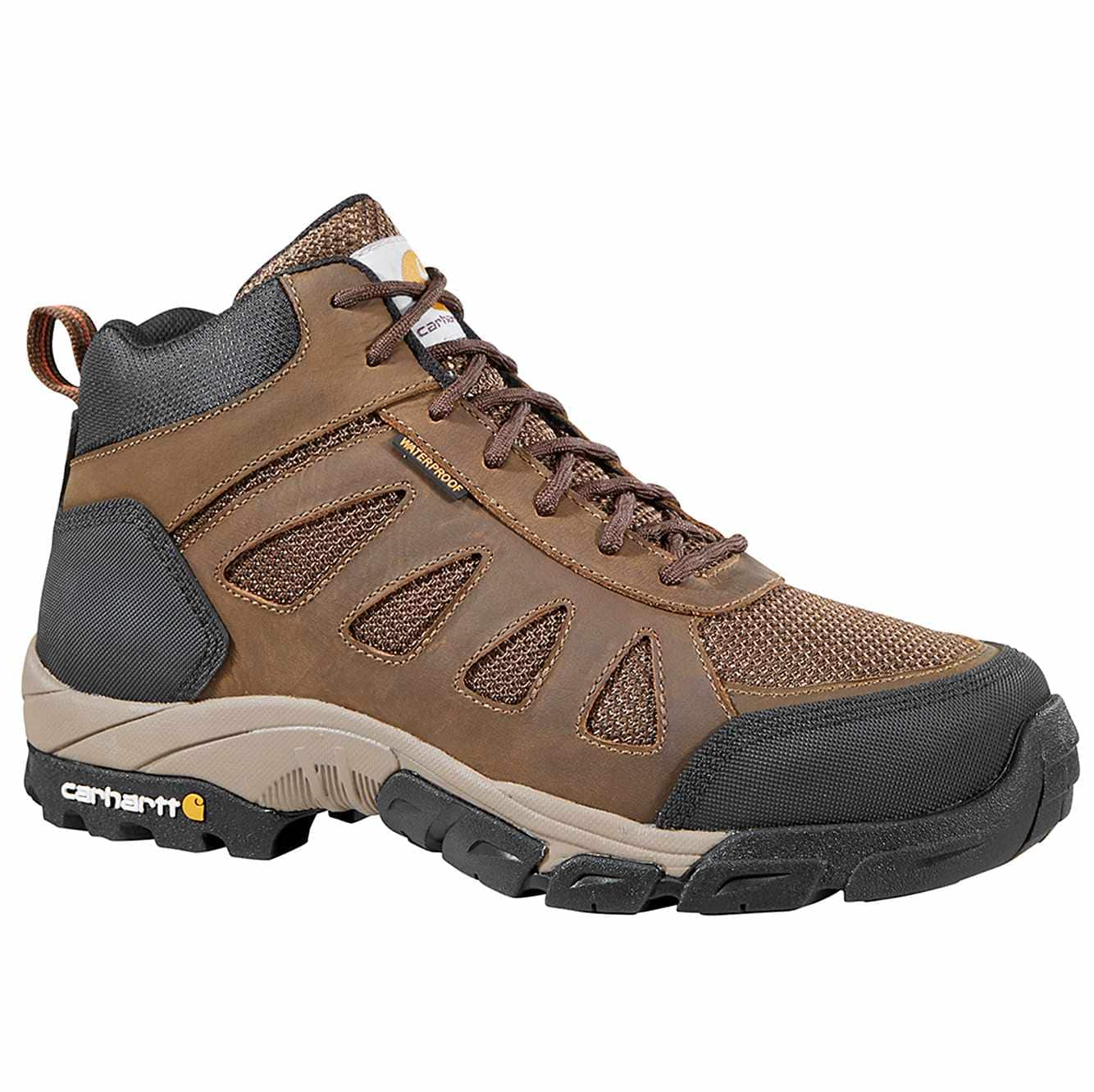 Picture of Lightweight Non-Safety Toe Work Hiker in Brown Leather and Nylon