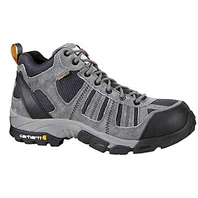 Carhartt Men's Grey Suede/Navy Nylon Lightweight Composite Toe Work Hiker Boot - front
