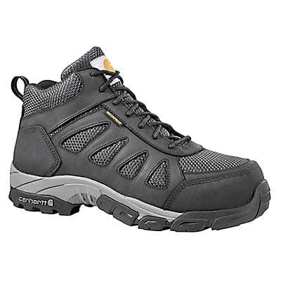 Carhartt  Black Leather and Nylon Lightweight Safety Toe Work Hiker - front