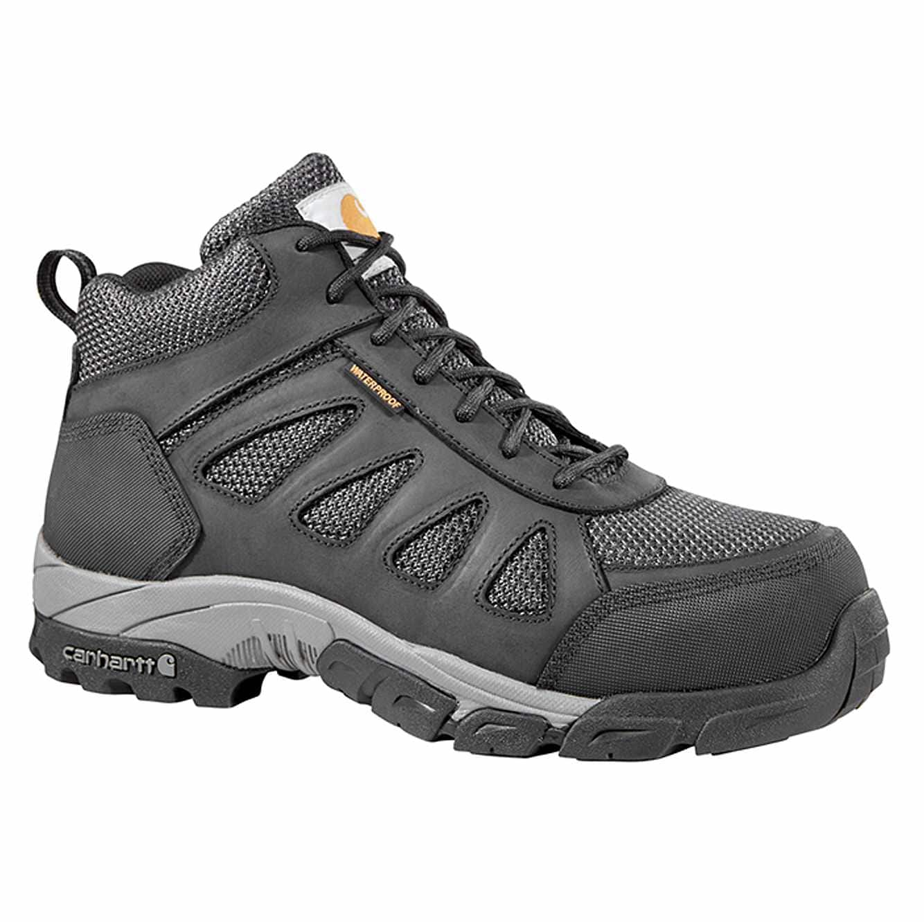 Picture of Lightweight Carbon Nano Toe Work Hiker in Black Leather and Nylon