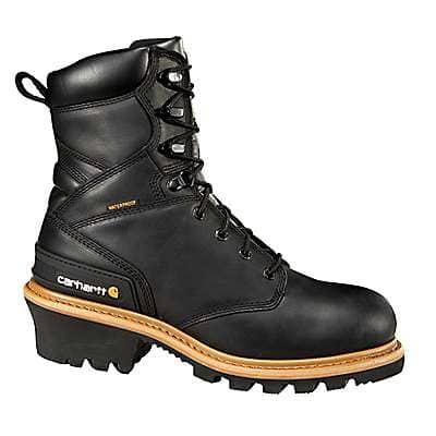 Carhartt Men's Black Oil Tanned Men's 8-Inch Black Non Safety Toe Logger Boot - front