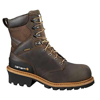 Carhartt Men's CHO-Crazy Horse Brown Oil Tanned 8-Inch Composite Toe Climbing Boot - front