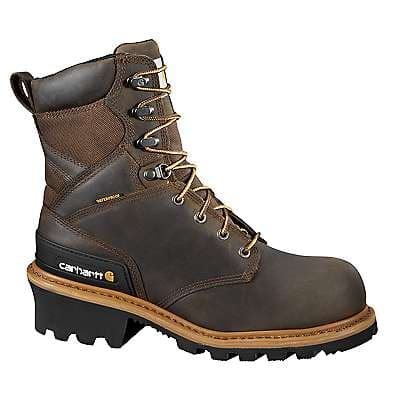 Carhartt Men's CRAZY HORSE BROWN OIL TANNED 8-Inch Composite Toe Climbing Boot