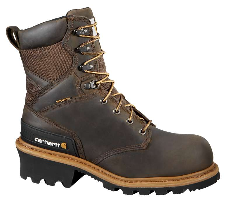 Carhartt  CRAZY HORSE BROWN OIL TANNED 8-Inch Composite Toe Climbing Boot