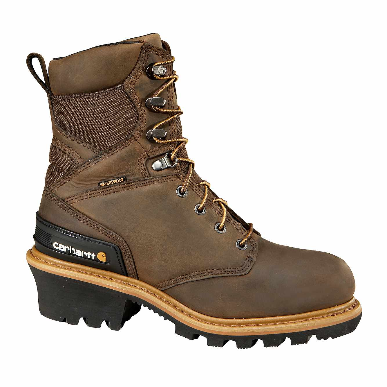 Picture of 8-Inch Insulated Composite Toe Climbing Boot in CHO-Crazy Horse Brown Oil Tanned