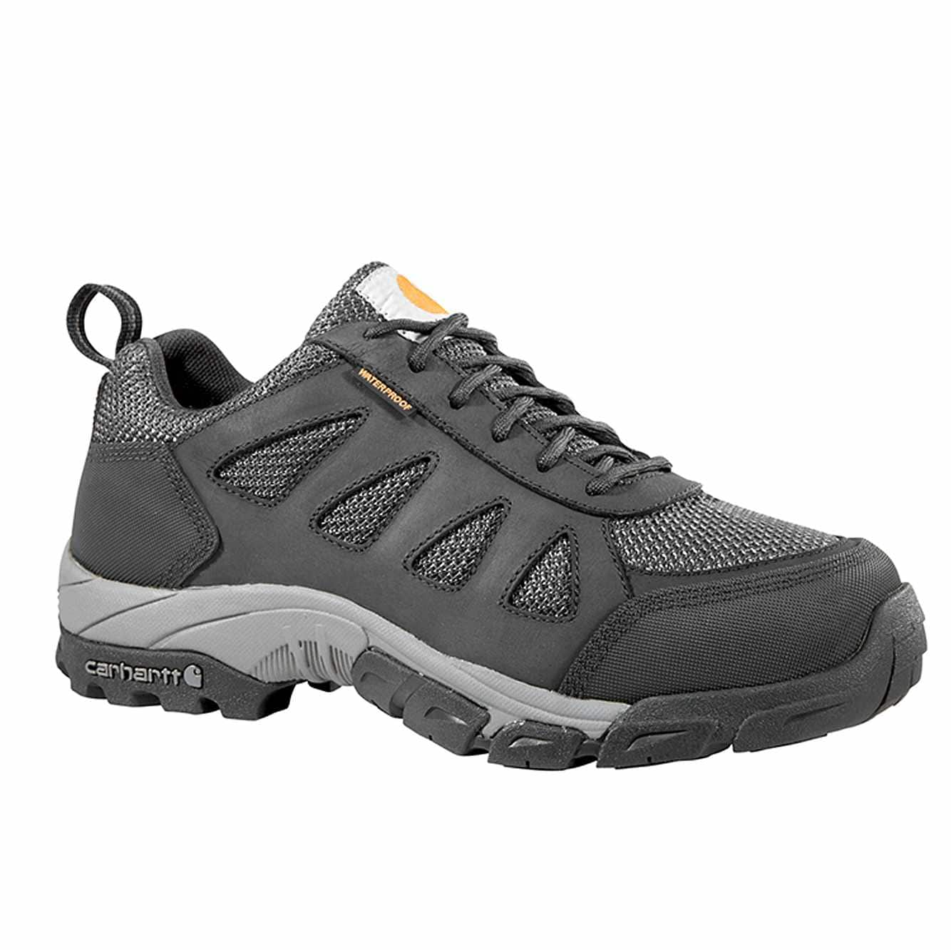 Picture of Lightweight Low Non-Safety Toe Work Hiker in Black Leather and Nylon