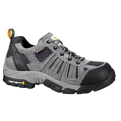 Carhartt Men's Grey Suede/Navy Nylon Lightweight Low Composite Toe Work Hiker Boot - front