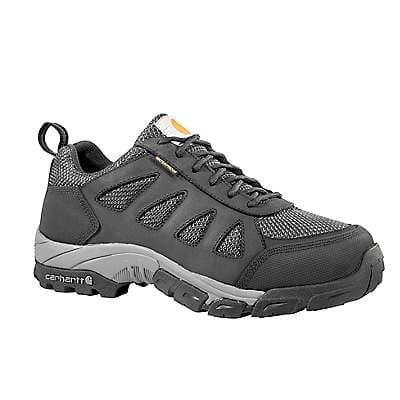Carhartt  Black Leather and Nylon Lightweight Low Safety Toe Work Hiker - front