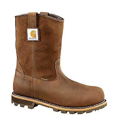 Carhartt Men's DK BROWN OIL TANNED 10-Inch Non-Safety Toe Wellington