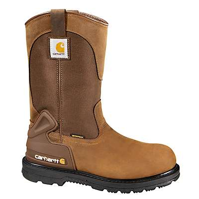 Carhartt Men's Bison Brown Oil Tan 11-Inch Steel Toe Wellington Boot - front