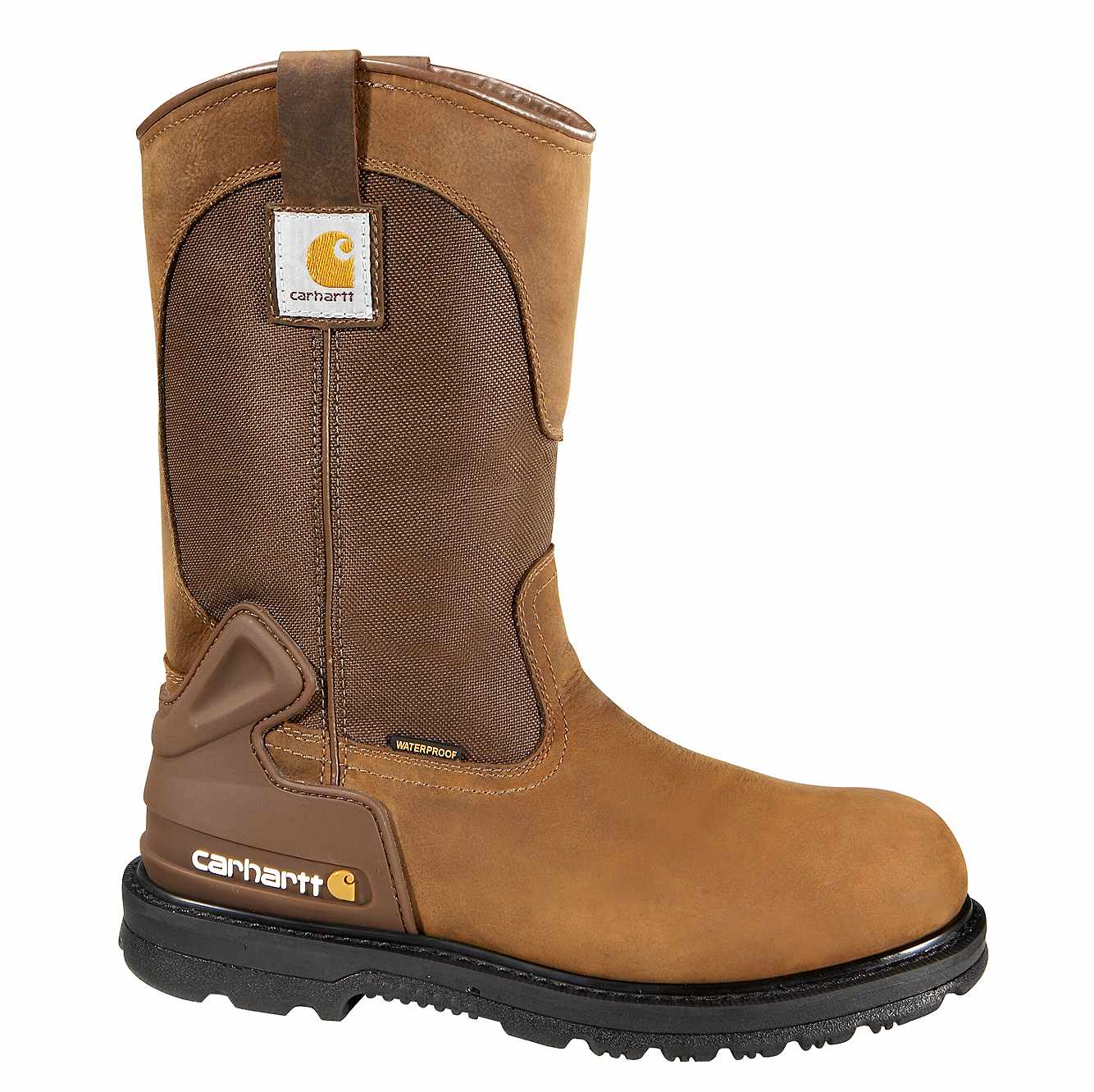Picture of 11-Inch Steel Toe Wellington Boot in Bison Brown Oil Tan