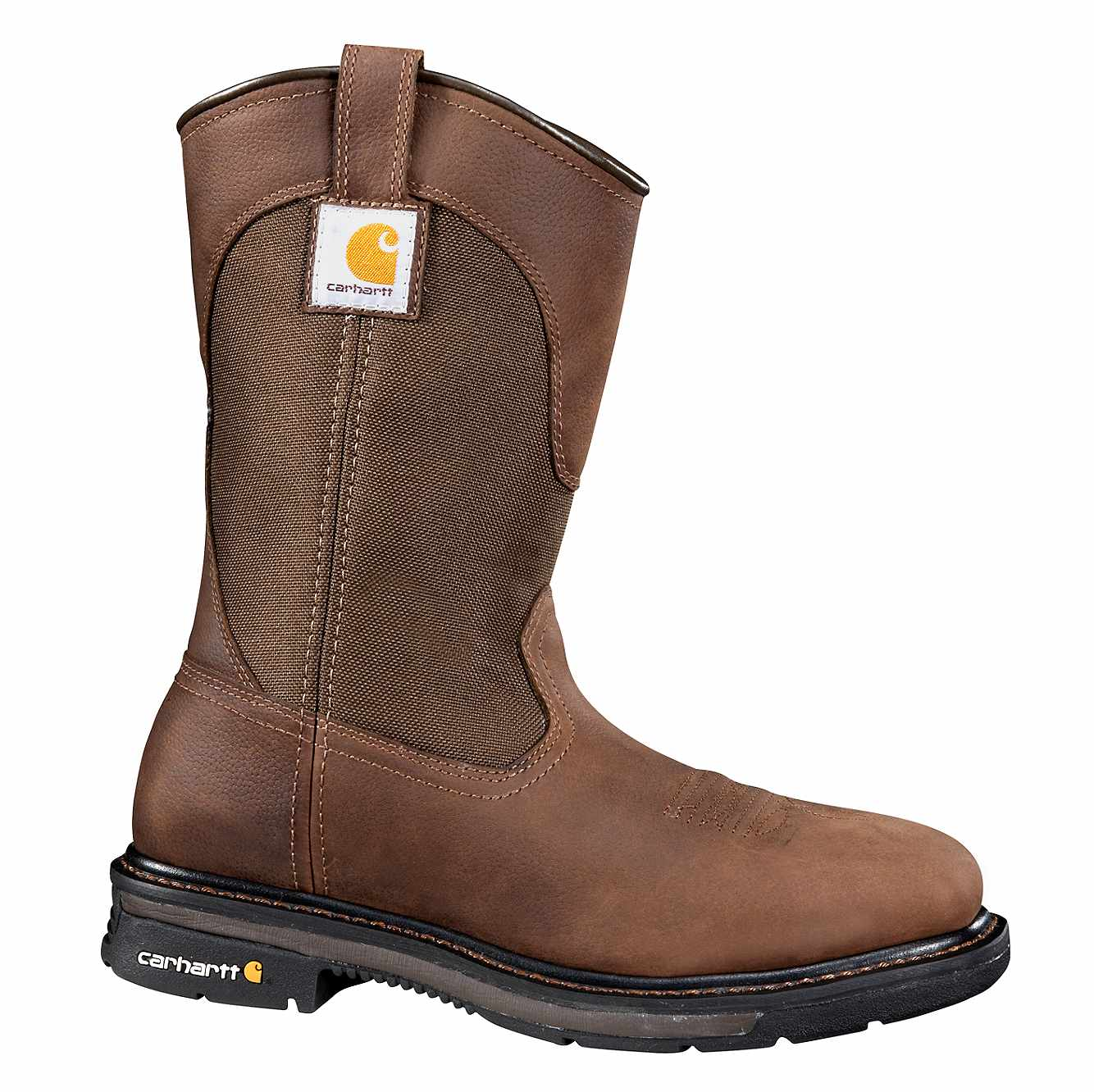 Picture of 11-Inch Square Steel Toe Wellington Boot in Dark Bison Oil Tanned