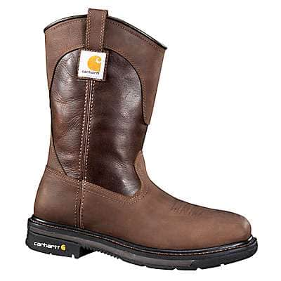 Carhartt Men's DK BROWN OIL TANNED 11-Inch Square Steel Toe Wellington Boot