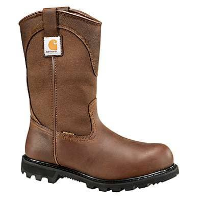 Carhartt Men's Brown Oil Tanned 10-Inch Steel Toe Wellington Boot - front