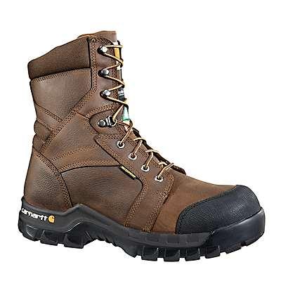 Carhartt Men's Carhartt Brown Rugged Flex® 8-Inch Insulated Composite Toe CSA Boot - front