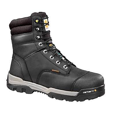 Carhartt Men's Black Ground Force 8-Inch Insulated Composite Toe CSA Work Boot - front