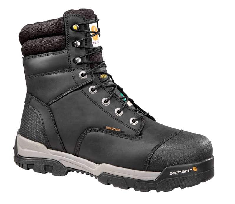 Carhartt  Black Ground Force 8-Inch Insulated Composite Toe Csa Work Boot