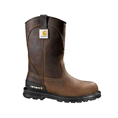 Carhartt Men's DK Brown Oil Tanned 11-Inch Brown Unlined Non-Safety Toe Wellington - front