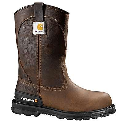 Carhartt Men's DK Brown Oil Tanned 11-Inch Brown Unlined Steel Toe Wellington - front