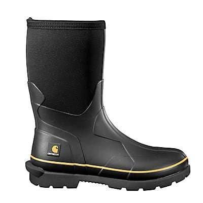 Carhartt Men's Black Mudrunner 10-Inch Non-Safety Toe Rubber Boot
