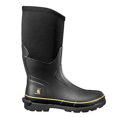 Carhartt Men's Black Mudrunner 15-Inch Carbon Nano Toe Rubber Boot