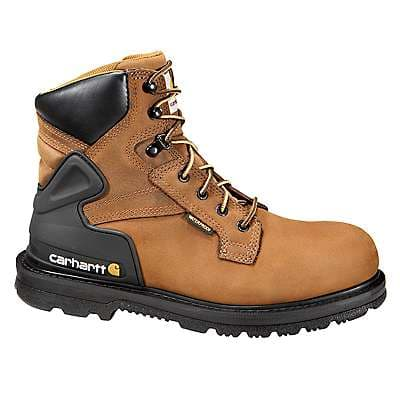 Carhartt Men's BISON BROWN OIL TAN 6-Inch Non-Safety Toe Work Boot