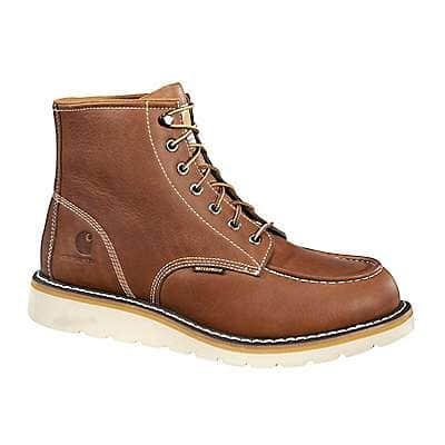Carhartt Men's SOFT TAN FULL GRAIN LEATHER 6-Inch Non-Safety Toe Wedge Boot