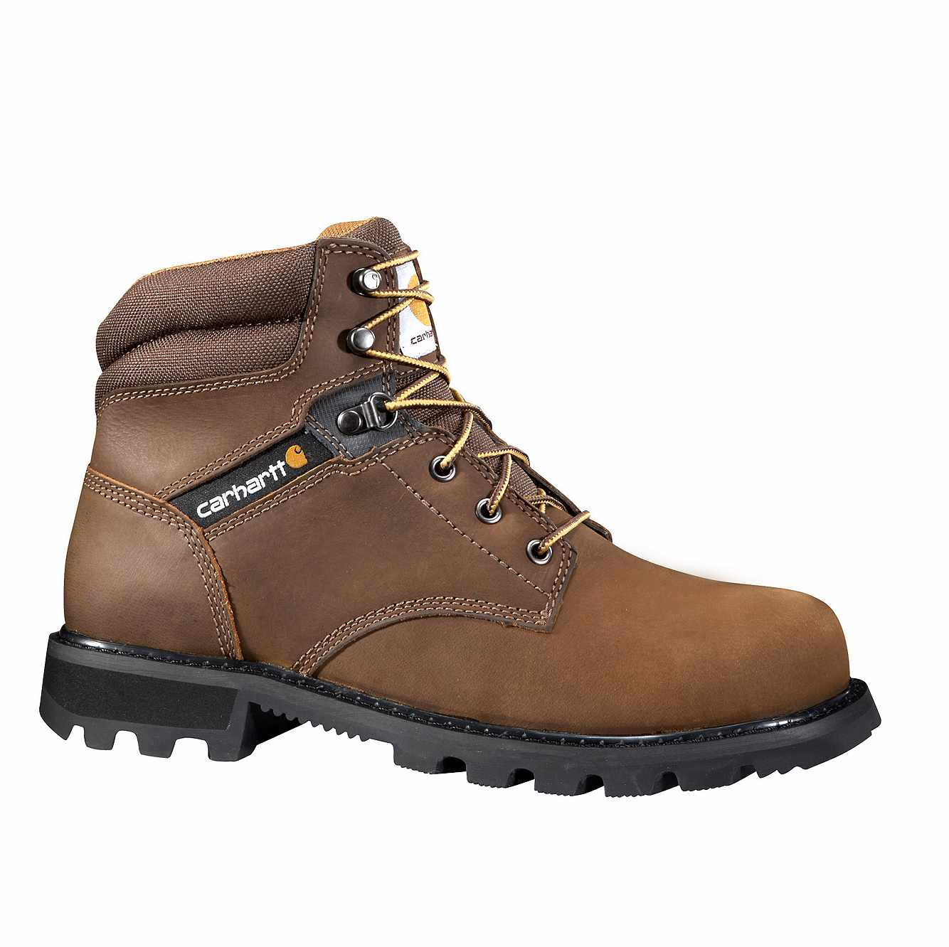 Picture of 6-Inch Steel Toe Work Boot in DK Brown Oil Tanned