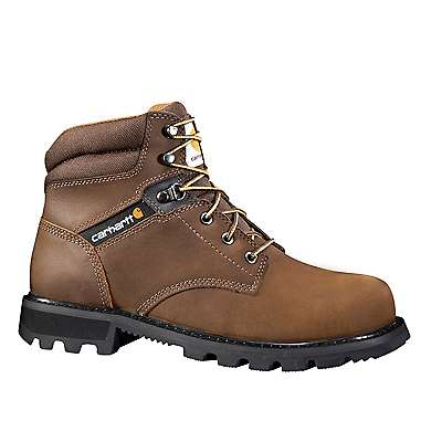 Carhartt Men's CRAZY HORSE BROWN OIL TANNED 6-Inch Steel Toe Work Boot